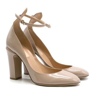 Valentino Nude Patent Leather Tango Pumps