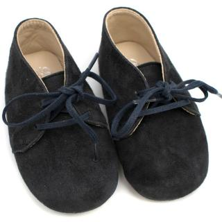 Bonpoint Baby Boy Navy Suede Shoes