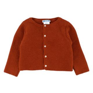 Jacadi Baby Girl 12M Red Cotton Knit Cardigan