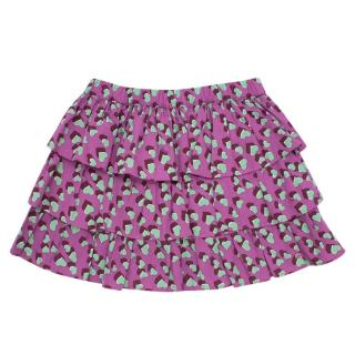 Gucci Girl's 3 Years Hearts Print Ruffled Skirt