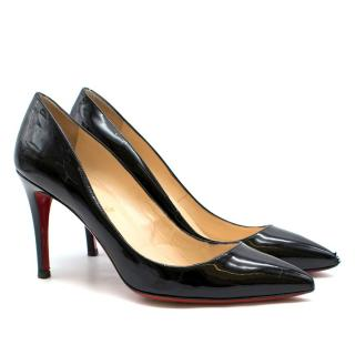 Christian Louboutin Black Pigalle Follies 85 Leather Pumps