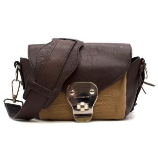 Balenciaga Brown Leather Mini Baguette Bag