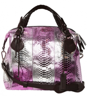 Pauric Sweeney Overnight Metallic Shiny Python Bag