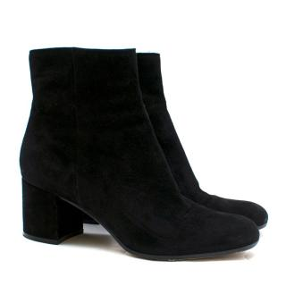 Gianvito Rossi Black Suede Ankle Boots