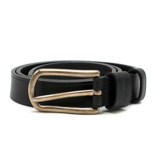 Prada Black Leather Classic Belt