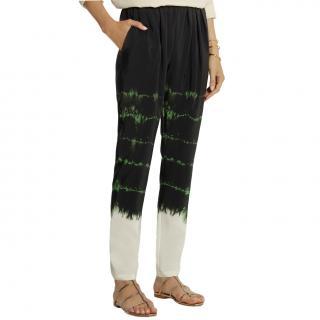 Stella McCartney Christine Tie-dye Trousers in Green