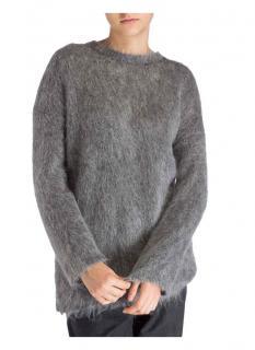 Max Mara Grey Raggi Straight Line Sweater