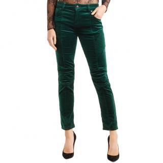 Pierre Balmain Green Velvet Pants