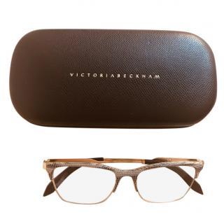 Victoria Beckham Snakeskin Print Glasses