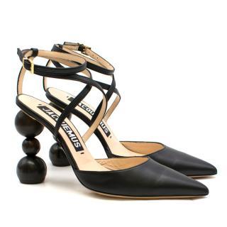 Jacquemus Les chaussures Camil Black Leather Pumps