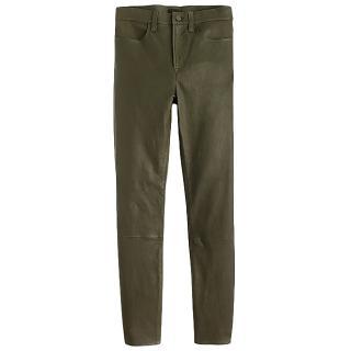 J Crew Olive Green Leather Pants