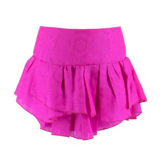 Isabel Marant Pink Layered Jacquard Mini Skirt