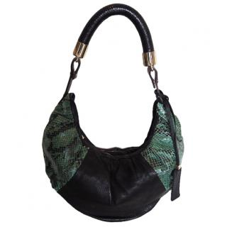 Pauric Sweeney Leather & Python Small Hobo