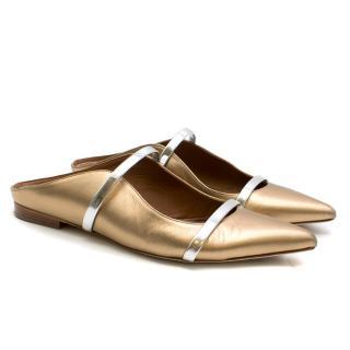 Malone Souliers Metallic Gold Maureen Flats