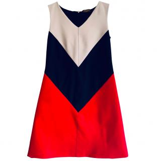 Louis Vuitton Colour-Block Geometric A-Line Dress