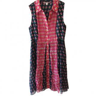 Diane Von Furstenberg Printed Floral Shirt Dress