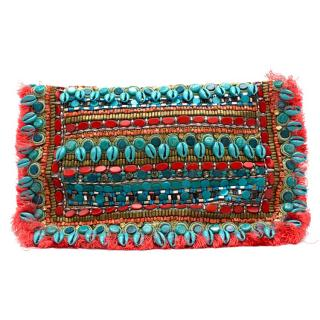 Matthew Williamson Suede Bead Embellished Clutch Bag