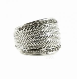 David Yuman 0.49ct Diamond Wheaton Collection 18mm Band Ring