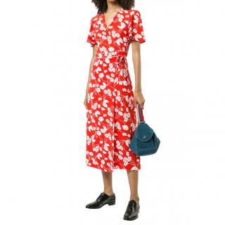 Rixo London floral printed wrap dress