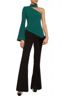 Cinq a Sept Emerald Green Asymmetric Top