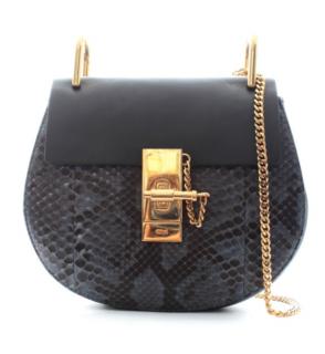 Chloe Python & Calfskin Drew Bag