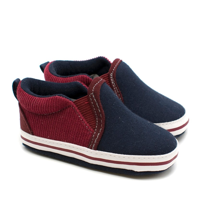 Jacadi Baby Boy First Steps Navy Canvas Shoes