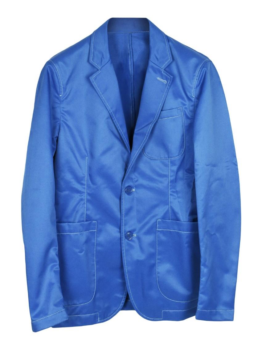 Alexander McQueen blue slim fit blazer