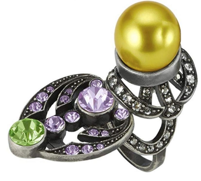 Mawi Lavender & Peridot Statement Ring
