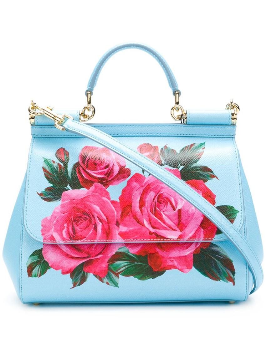 Dolce & Gabbana Blue & Pink Miss Sicily Bag