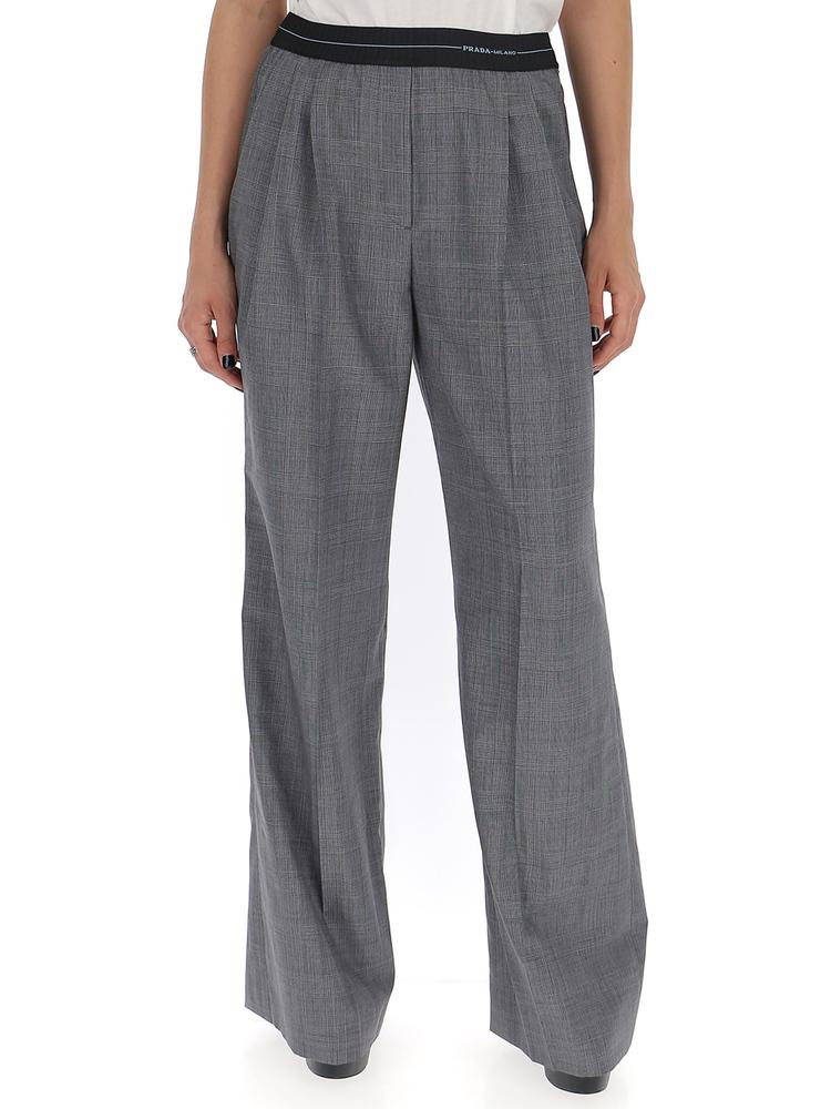 Prada Prince of Wales Check Flared Trousers