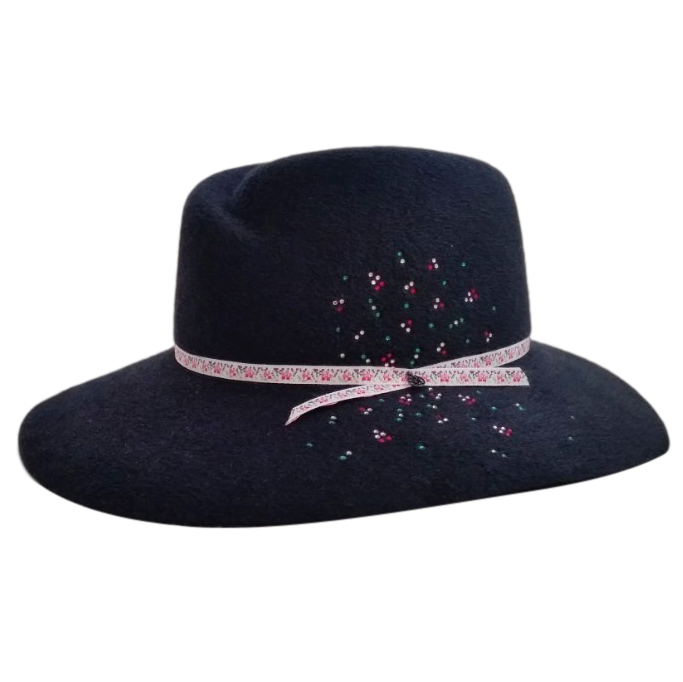 Maison Michel Virginie Strass Felt Hat