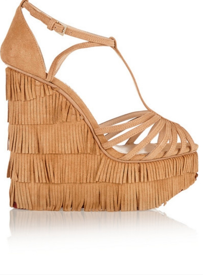 Charlotte Olympia Fringed Wedge Sandals