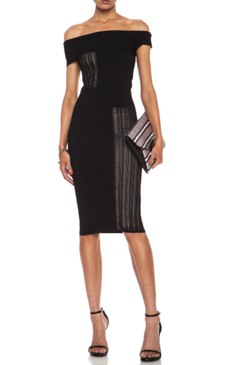Roland Mouret Mable Dress in Black