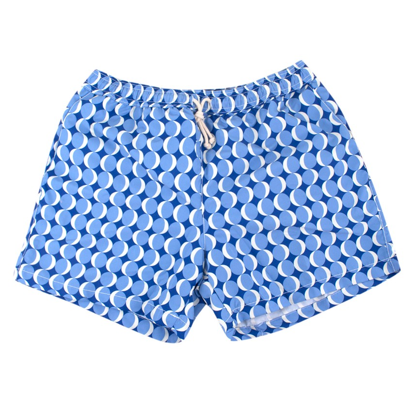 Ripa & Ripa Blue Milano Circle Print Swim Shorts