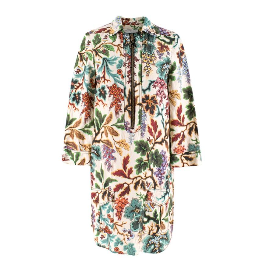 Philosophy Di Lorenzo Serafini Floral Print Half-Zip Dress