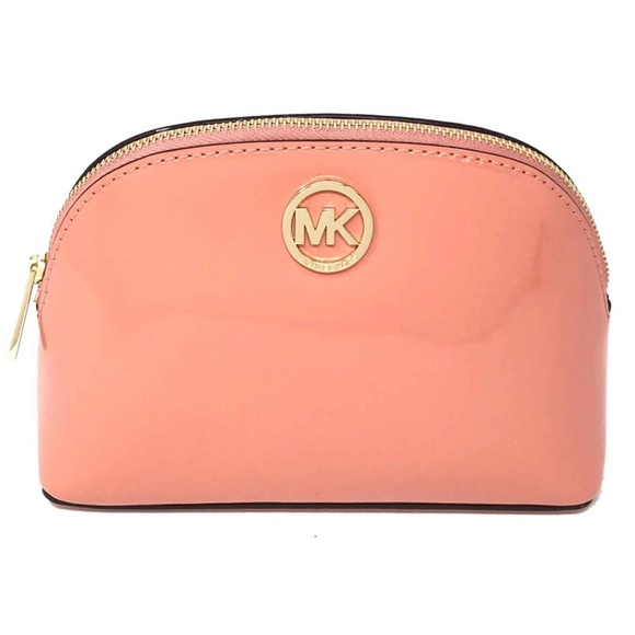 Michael Kors Fulton Large Travel Pouch in Peach