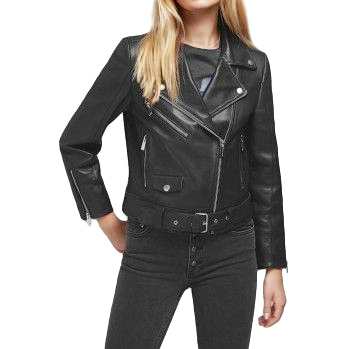 Anine Bing Black Jett Leather Jacket