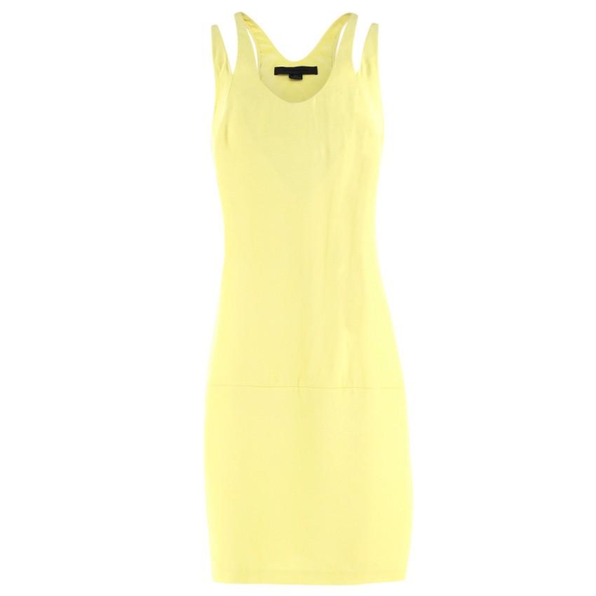 Alexander Wang Neon Yellow Racer-back Silk Dress