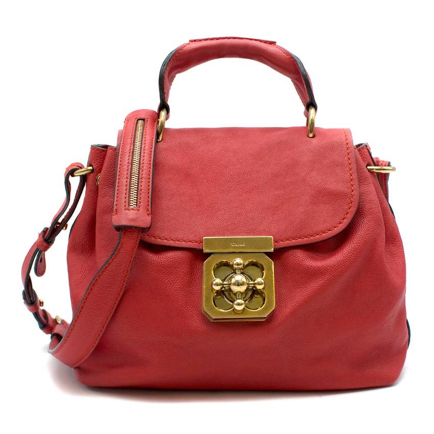 Chloe Red Elsie Satchel Bag