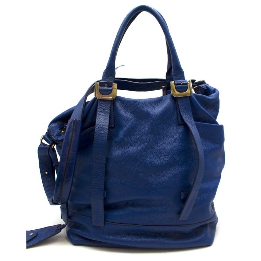 Diane von Furstenberg Leather Blue Tote Bag