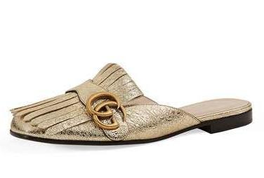 Gucci Marmont Metallic Mules