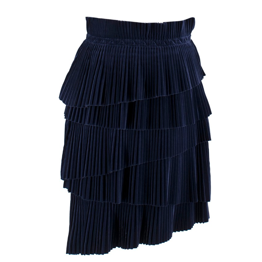Marco de Vincenzo tiered velvet Skirt