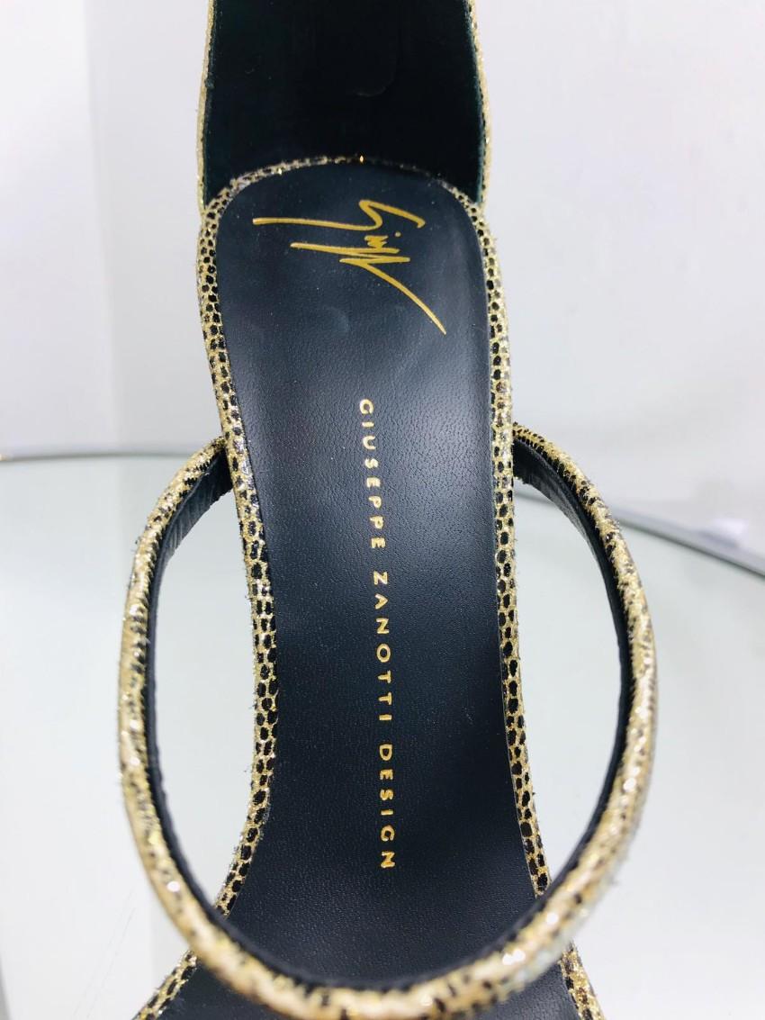 c775e034415 Giuseppe Zanotti Gold Lizard Harmony Sandals