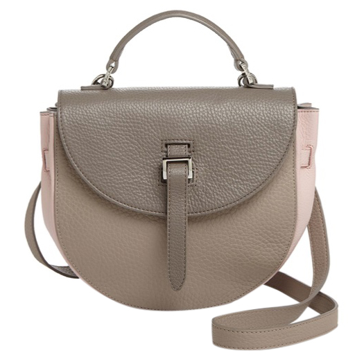 Meli Melo pebbled leather saddle bag