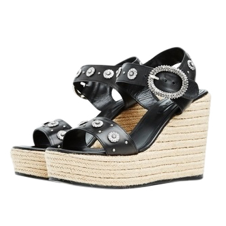 The Kooples Jewelled Espadrille Wedges