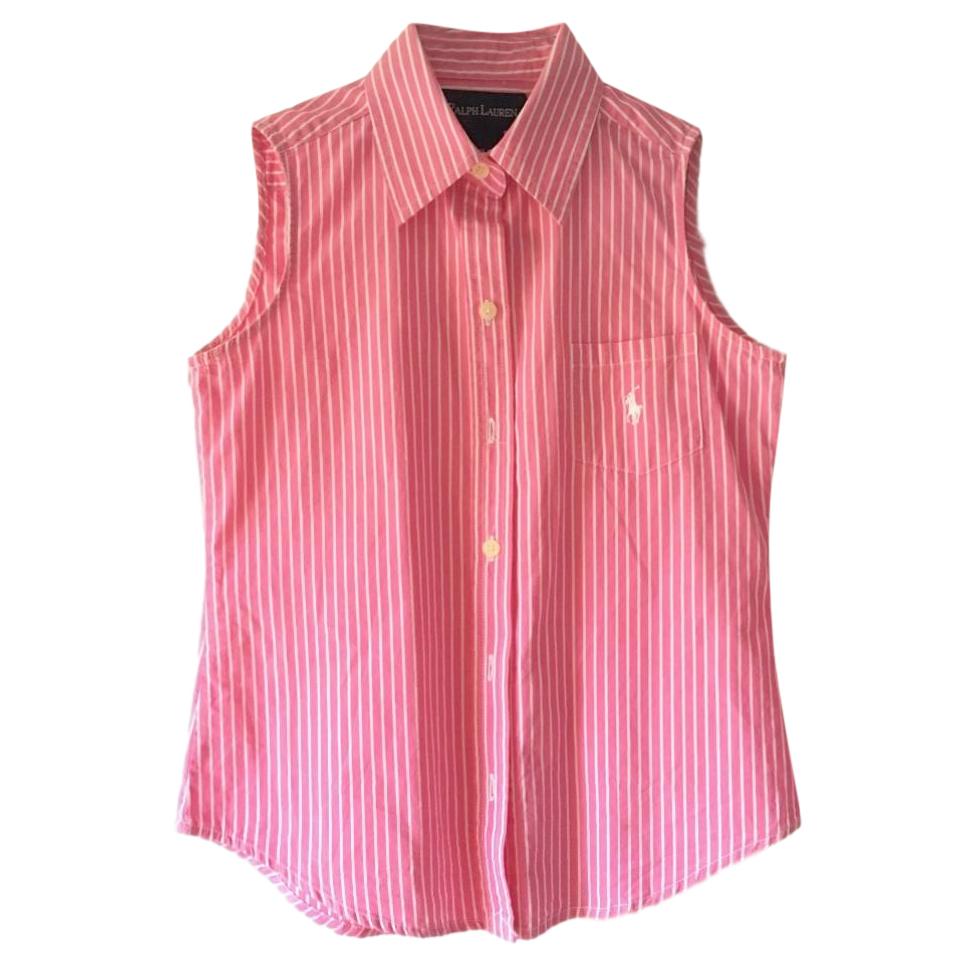 Ralph Lauren Girls Striped Sleeveless Shirt