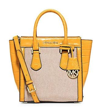 Michael Michael Kors Colette Medium Croc Embossed Canvas Messenger Bag