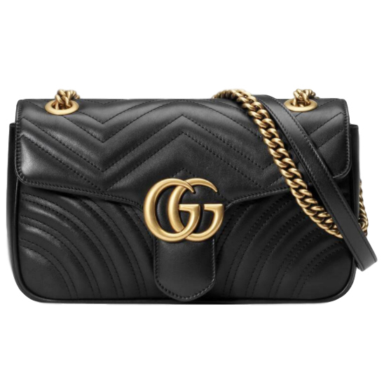 Gucci Black Marmont Shoulder Bag