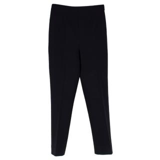 Ralph Lauren Black Wool-blend Stretch Skinny Trousers