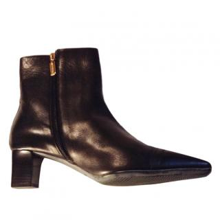 Bruno Magli Low Block Heel Ankle Boots